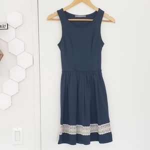 Fit and flare dress with southern charm | NAVY